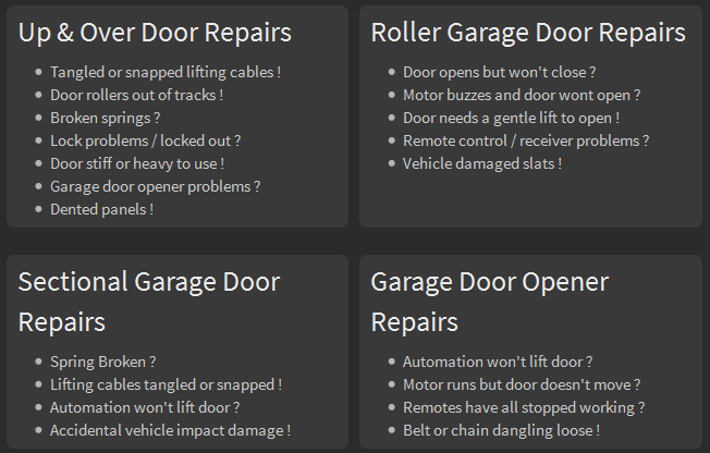 Speedy Garage Door Repairs Garage Door Repairs